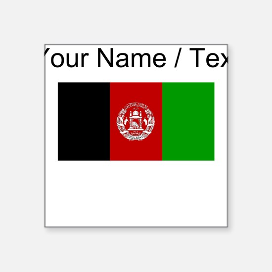 Custom Afghanistan Flag Sticker