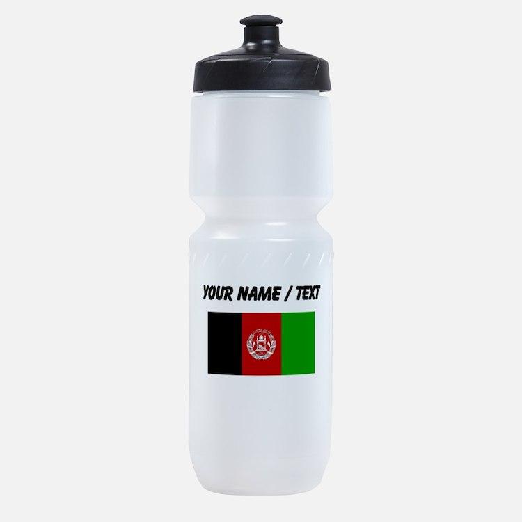 Custom Afghanistan Flag Sports Bottle