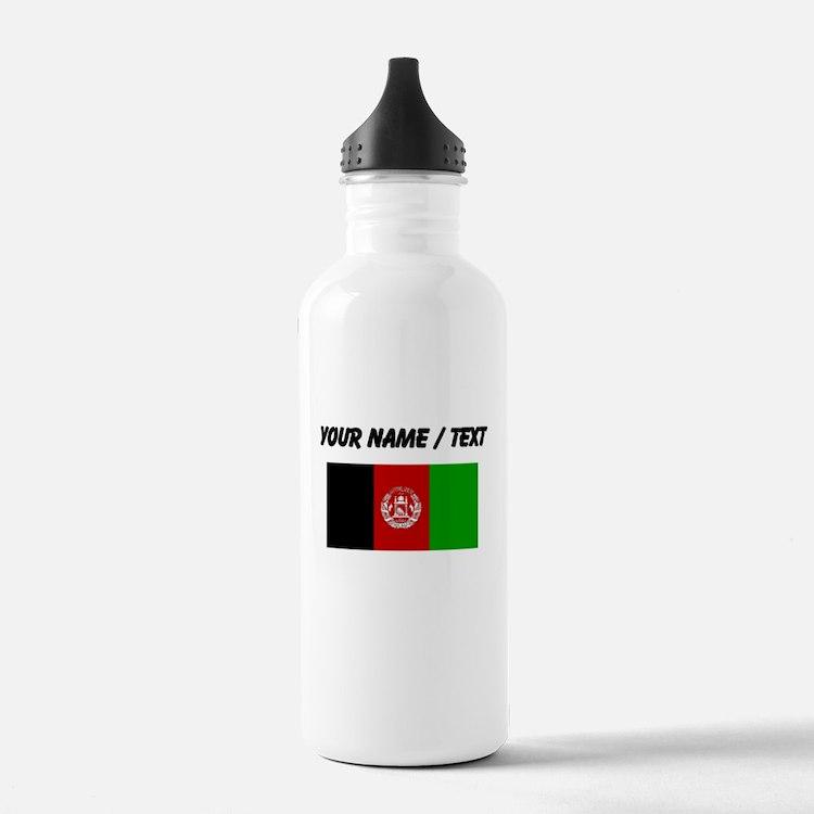 Custom Afghanistan Flag Water Bottle