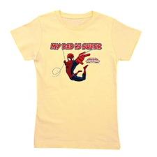 Spider-Man My Dad is Super Girl's Tee