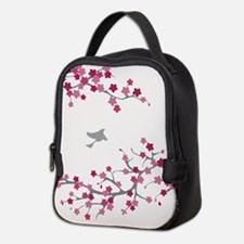 Cherry Blossom and Birds Neoprene Lunch Bag