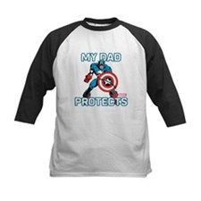 My Dad Protects:Captain Ameri Tee