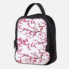 Cherry Blossom Flowers Neoprene Lunch Bag