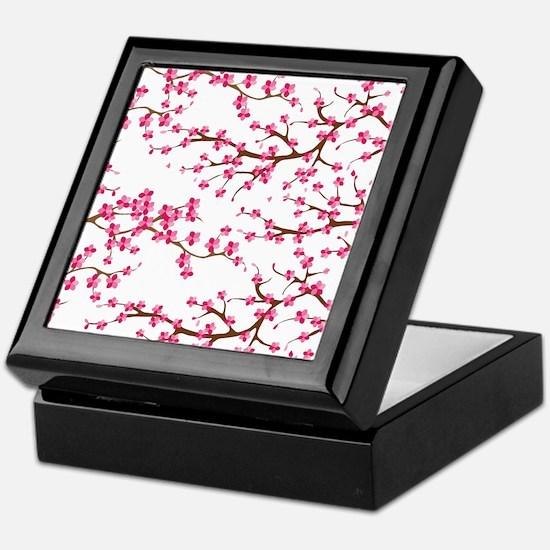 Cherry Blossom Flowers Keepsake Box
