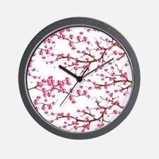 Cherry Blossom Flowers Wall Clock