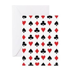 Card Suits Greeting Cards