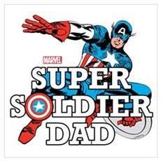 Super Soldier Dad Wall Art Poster