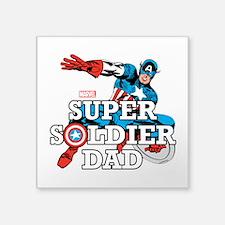 """Super Soldier Dad Square Sticker 3"""" x 3"""""""
