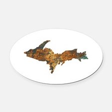 Raw Float Copper Oval Car Magnet
