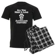 Love And An Australian Shepherd Pajamas