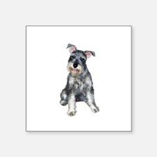 "Schnauzer (gp) Square Sticker 3"" x 3"""