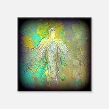 "Glitter Angel Square Sticker 3"" x 3"""