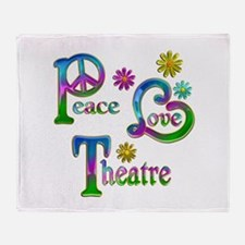Peace Love Theatre Throw Blanket
