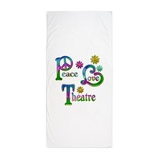 Peace Love Theatre Beach Towel