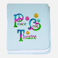 Peace Love Theatre baby blanket