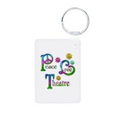 Peace Love Theatre Keychains