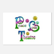 Peace Love Theatre Postcards (Package of 8)