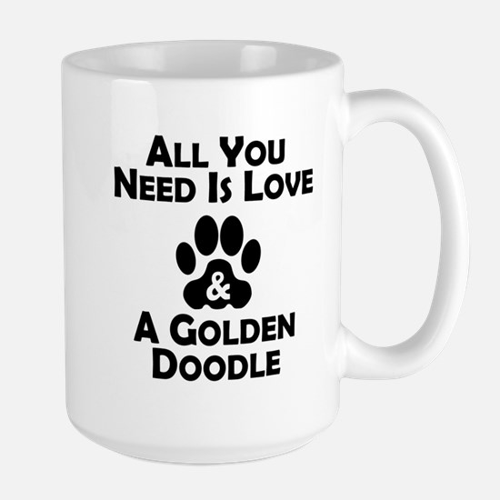 Love And A Goldendoodle Mugs