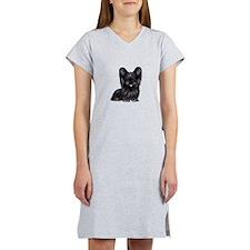 Skye Terrier (blk) Women's Nightshirt