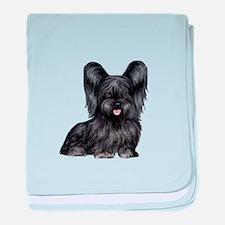 Skye Terrier (blk) baby blanket