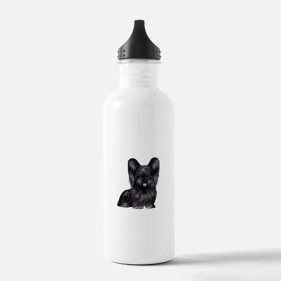 Skye Terrier (blk) Sports Water Bottle