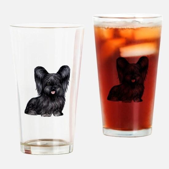 Skye Terrier (blk) Drinking Glass