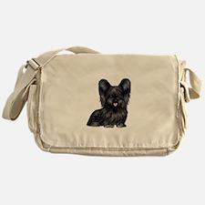 Skye Terrier (blk) Messenger Bag