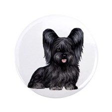 "Skye Terrier (blk) 3.5"" Button"