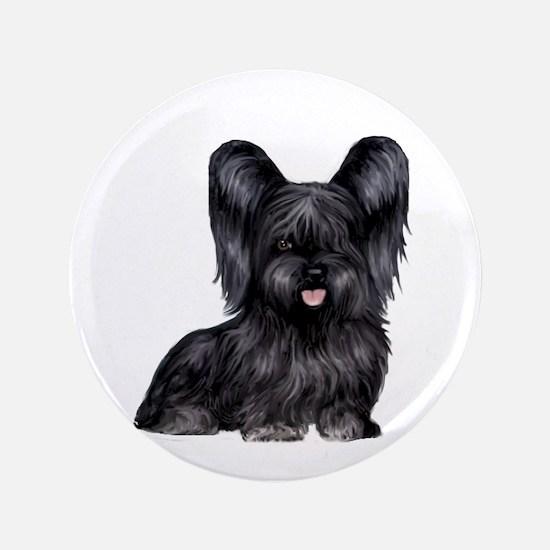 "Skye Terrier (blk) 3.5"" Button"