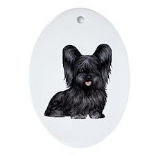 Skye Terrier (blk) Ornament (Oval)