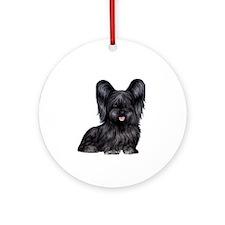 Skye Terrier (blk) Ornament (round)