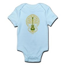 Green and Yellow Guitar Tree of Life Body Suit
