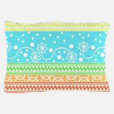 Aztec Flower Garden Tangle Pillow Case