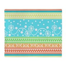 Aztec Flower Garden Tangle Throw Blanket