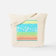 Aztec Flower Garden Tangle Tote Bag