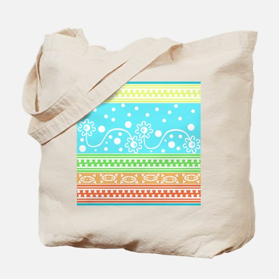 Aztec Flower Garden Tangle Tote Bag