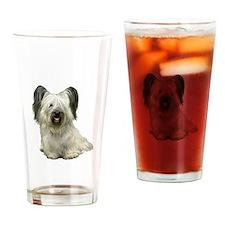 Skye Terrier (lt) Drinking Glass