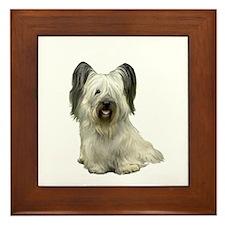 Skye Terrier (lt) Framed Tile