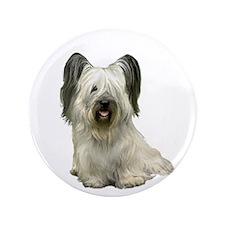 """Skye Terrier (lt) 3.5"""" Button"""