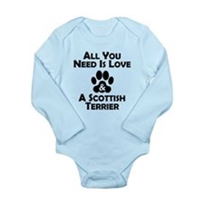 Love And A Scottish Terrier Body Suit