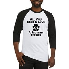 Love And A Scottish Terrier Baseball Jersey