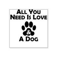 Love And A Dog Sticker