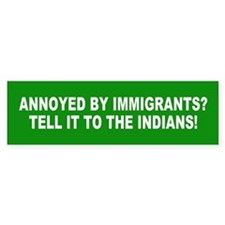 IMMIGRANTS Bumper Car Sticker
