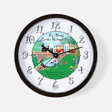 It's Always Garden Railroad Time Wall Clock