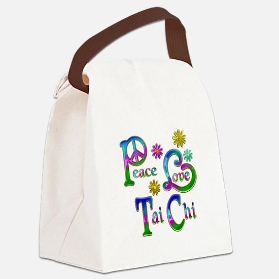 Peace Love Tai Chi Canvas Lunch Bag