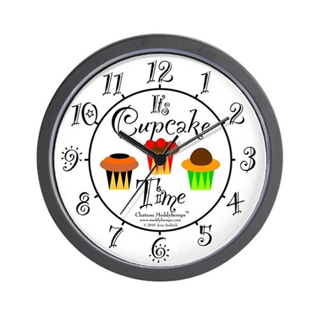 Cupcake Time Wall Clock