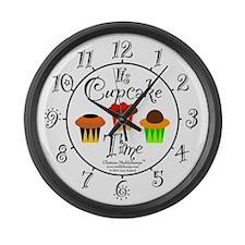 Cupcake Time Large Wall Clock