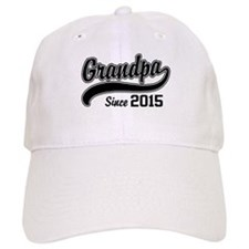 Grandpa Since 2015 Baseball Cap