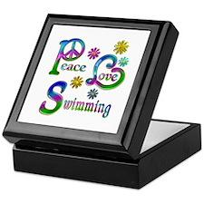 Peace Love Swimming Keepsake Box