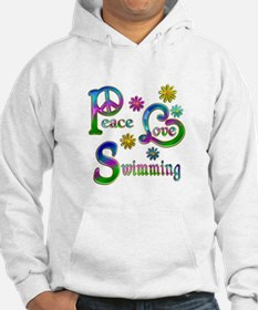 Peace Love Swimming Hoodie